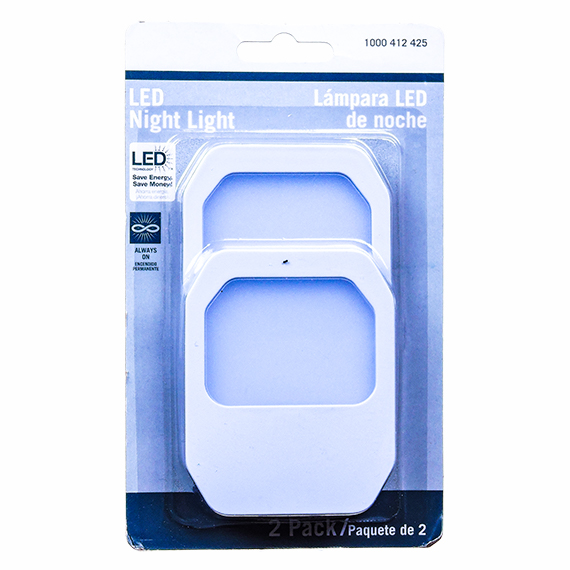 LED Night Light - Plug In, Cool Touch - 2 pack