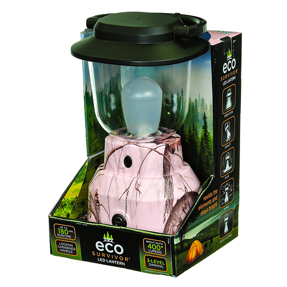 Lantern Led Pink Camo 3 Settings - Rs No Amzn