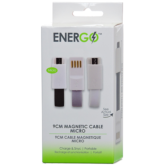 Energo Brand 3 Pack Magnetic Cables Micro Usb