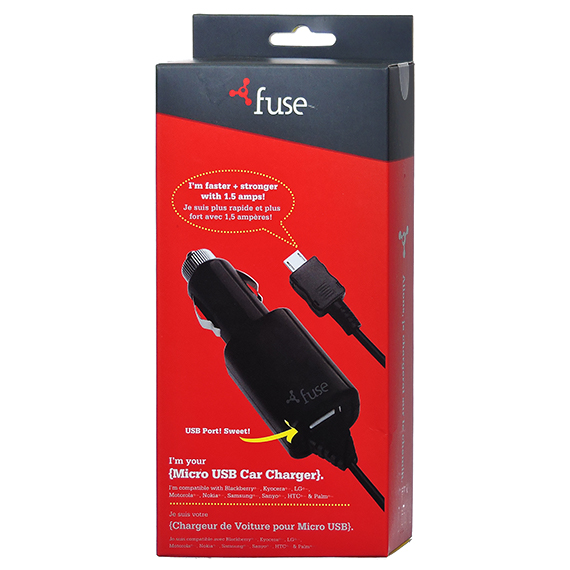 Fuse Brand Vehicle Charger 1.5A Micro 2 Usb Ports