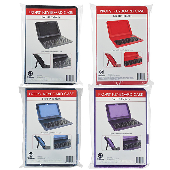 Case Keyboard for HP Tablets 4 Asst Colors