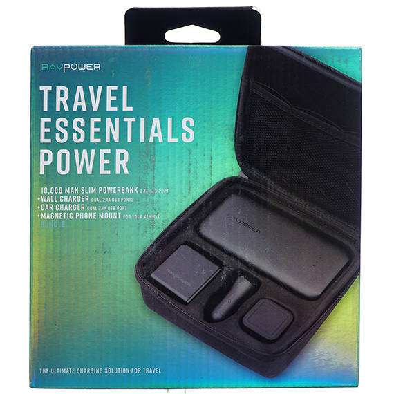 Travel Essentials Power Kit w/10,000 MAH Slim Powerbank
