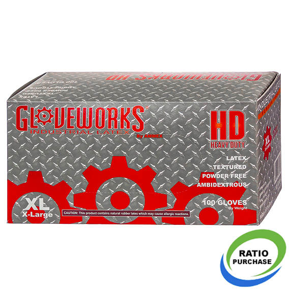 Gloveworks Industrial Grade Hd Latex Gloves Xlarge 100 Pk