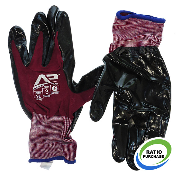 Glove Ultra Sheer Nitrile Touchscreen Large