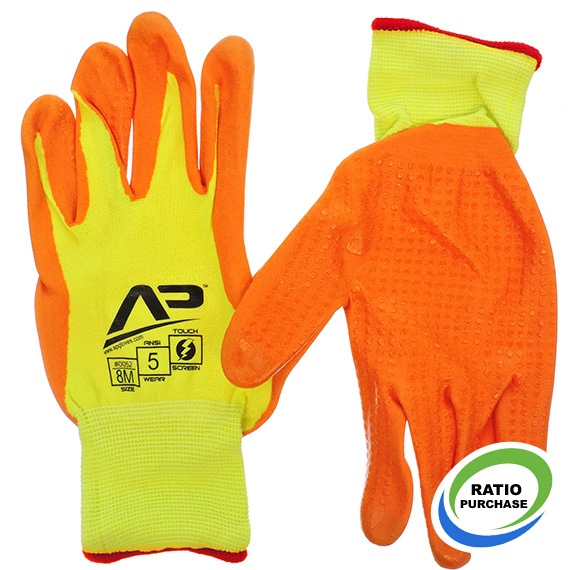 Glove Package Handler Hi-Vis Touchscreen Med