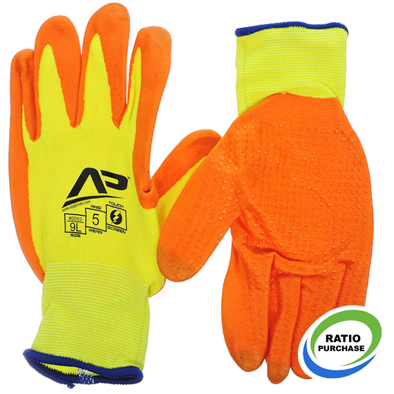 Glove Package Handler Hi-Vis Touchscreen Large