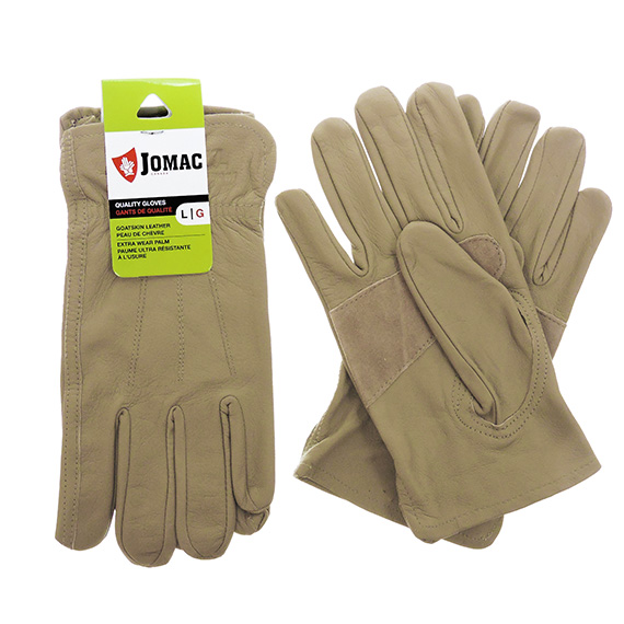Glove Driver Grain Goatskin Taupe Womens Large