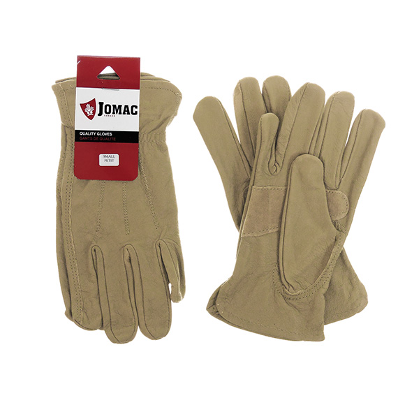 Glove Driver Grain Goatskin Taupe Womens Small