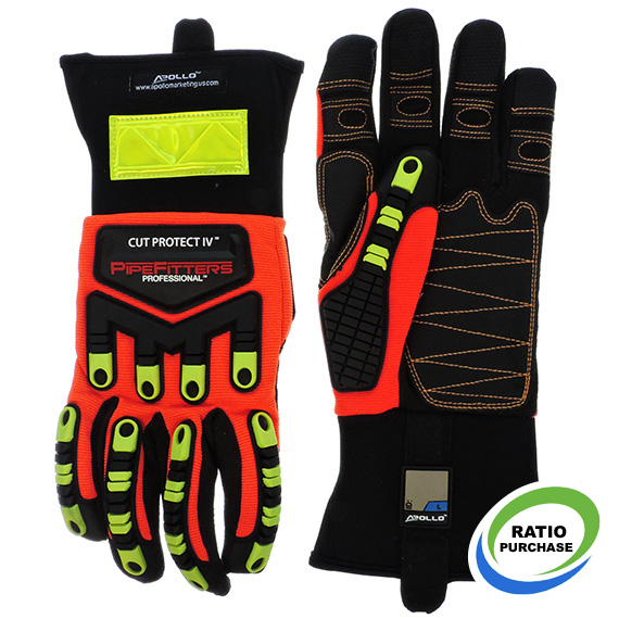 Glove Pipefitter Professional Cut Protect 4 Touchscreen Large