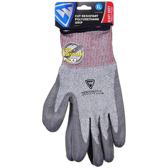 Gray Pu Coated Palm Speckle Grey Glove