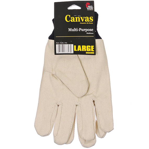 Glove White Canvas Large