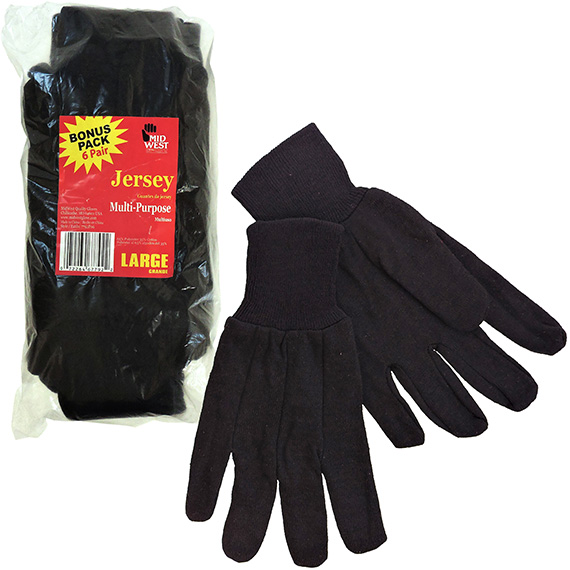 Glove Brown Jersey 6 Pk Not Tagged