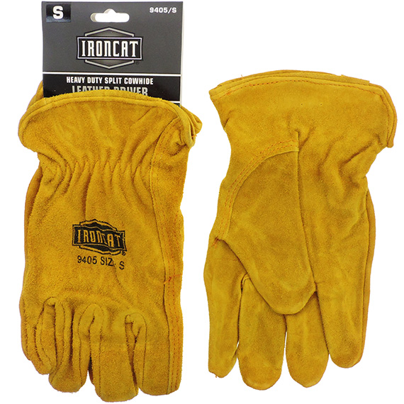 Glove Heavy Duty Split Cowhide Leather Driver SM