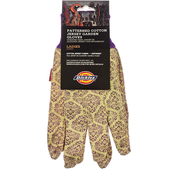 Glove Dickies® Ladies Patterned Cotton Jersey Gardening