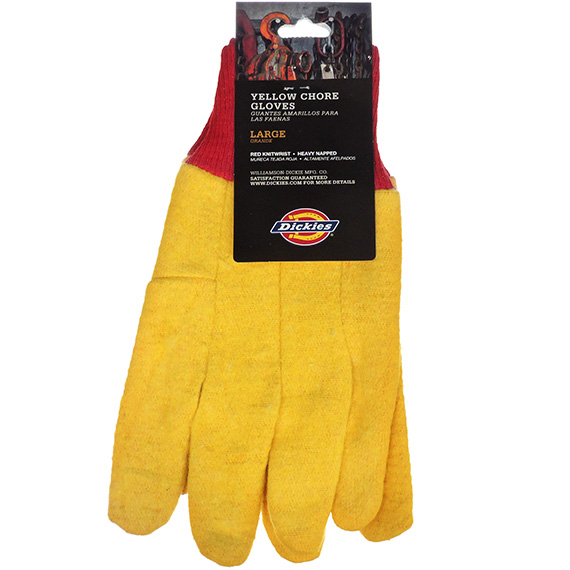 Glove Dickies® Large Yellow Chore