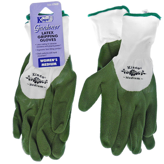 Glove Latex Coated Palm and Fingers Size Medium