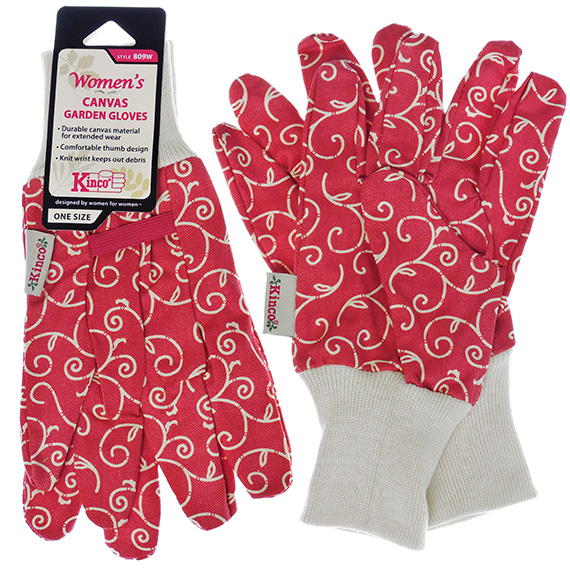 Glove Womens Gardner Cotton Canvas One Size