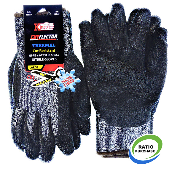 Glove Thermal Cut Resistant Level 5 Nitrile Large