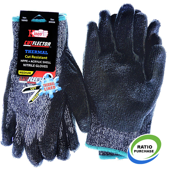 Glove Thermal Cut Resistant Level 5 Nitrile Medium