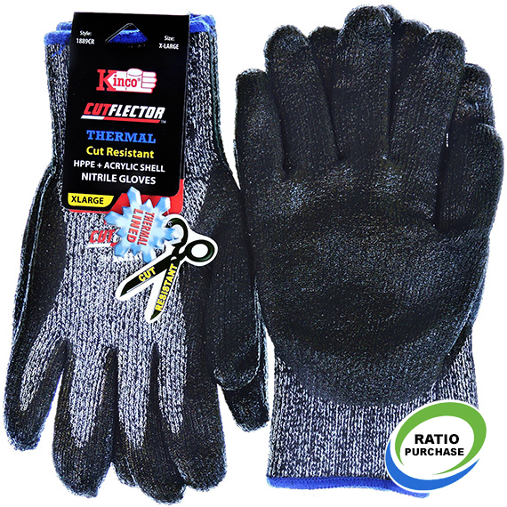 Glove Thermal Cut Resistant Level 5 Nitrile XL