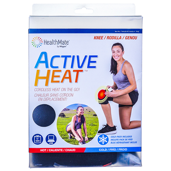 Active Heat™ Knee Wrap w/Cold Pack included