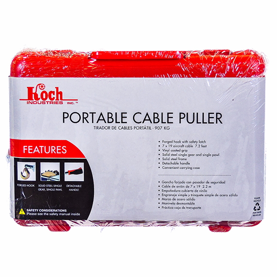 Portable Cable Puller - 1 Ton Capacity in Carry Box