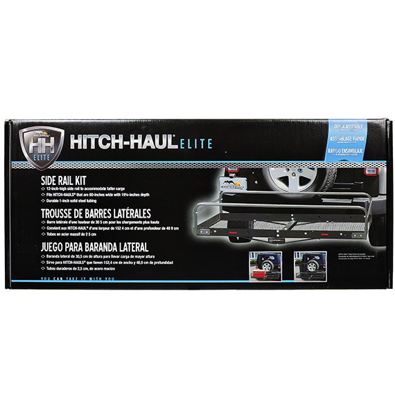Hitch-Haul Elite Extension 12in High Side Rail Kit Gunmetal