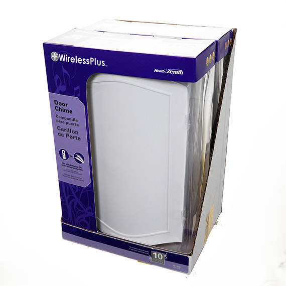 Wired or Wireless Door Chime - Rectangular PDQ