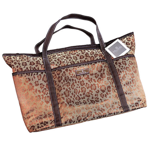 Toiletry Fashion Tote Bag Modella® Leopard  6pc Set