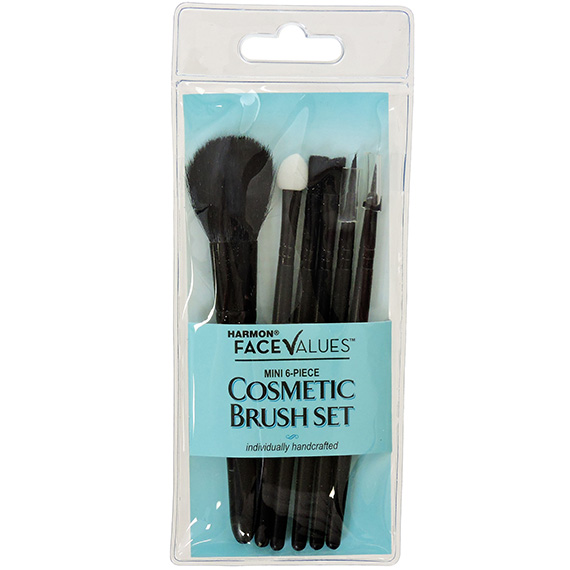 Mini Cosmetic Brush Set 6 Piece