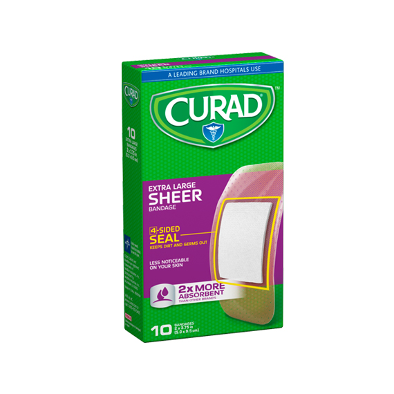 Bandages Curad® Sheer XL 10 Ct