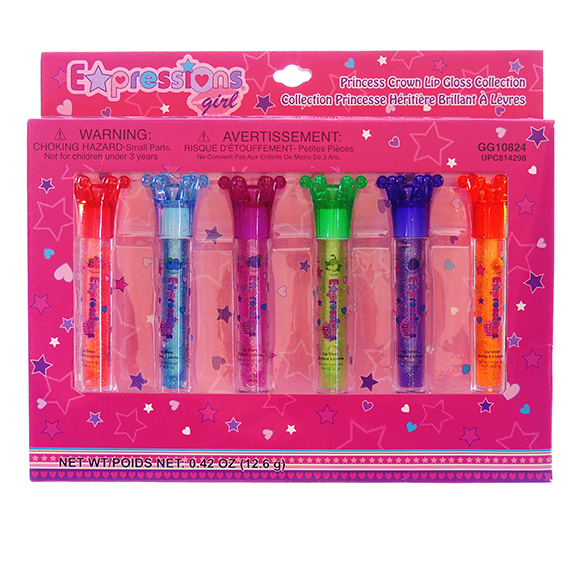 Lip Gloss Expressions Girl® Princess Crown Set of 6