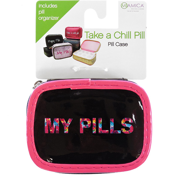 Pill Case Black & Pink My Pills