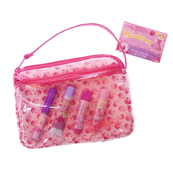 Lip Gloss Set Pinkalicious® Cupcake Makeup Case