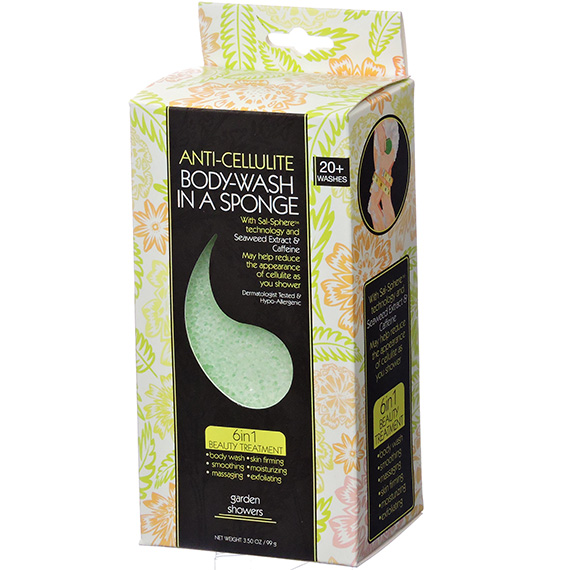 Bodywash in a Sponge Anti-Cellulite Garden Showers