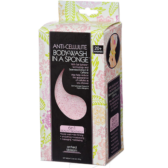 Bodywash in a Sponge Anti-Cellulite Orchard Blossom