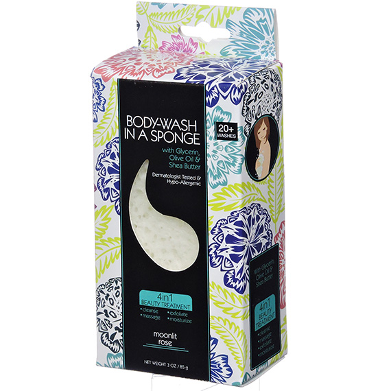 Bodywash in a Sponge Moonlit Rose