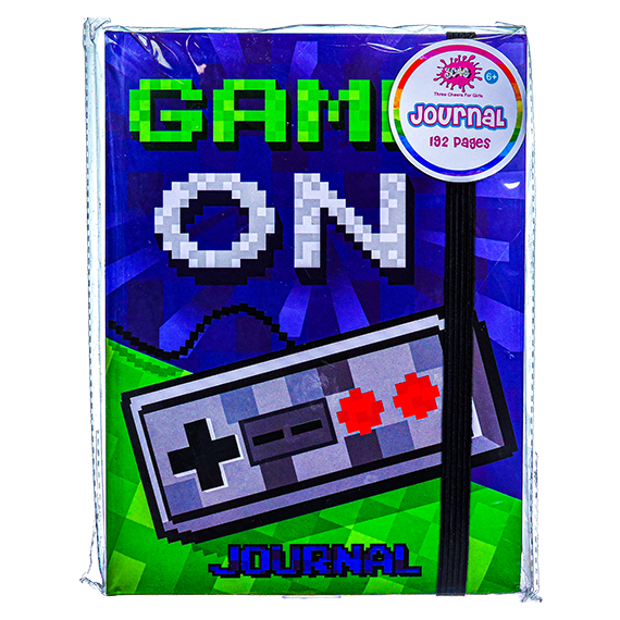 Game On Journal - 192 pages w/Elastic Closure - for ages 6+