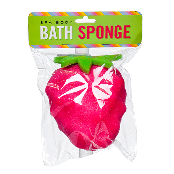 Spa Body Bath Sponge Strawberry