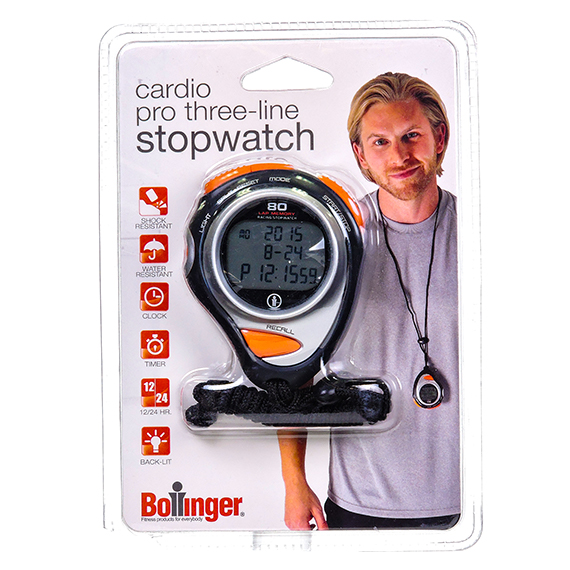Bollinger Pro Three-Line Stopwatch Water And Shock Resistant