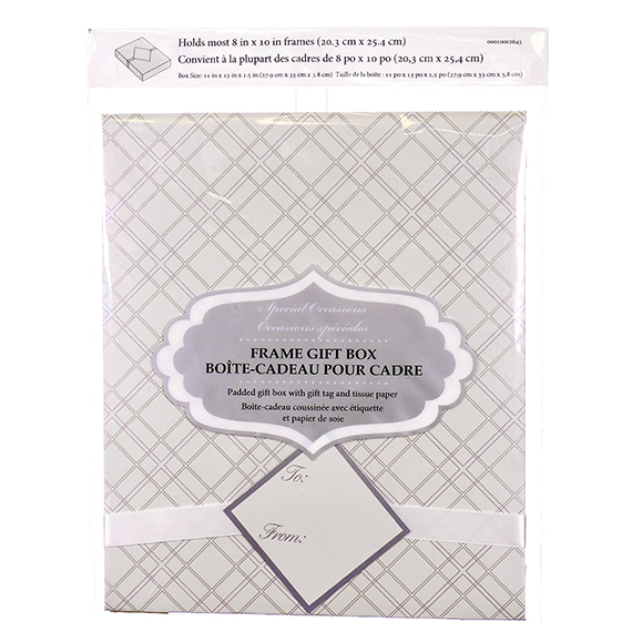 Frame Gift Box With Gift Tag and Tissue Paper Assorted