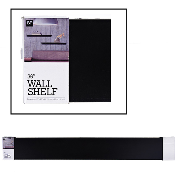 Wall Shelf 36in 114x58mm MDF Black