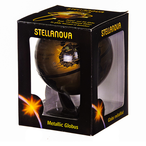 Stellanova 4 Inch Gold - Brown Swl - Tilt Globe