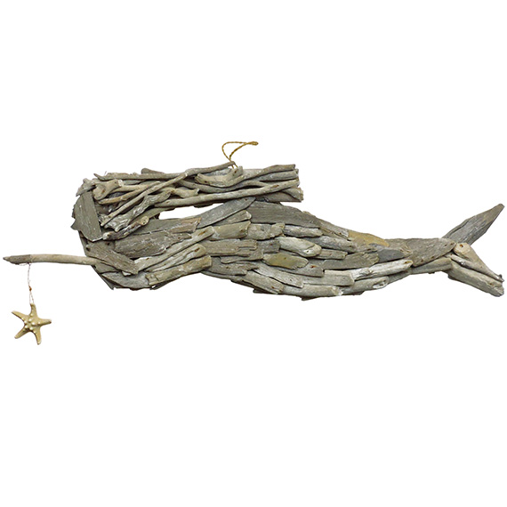 Driftwood Mermaid White