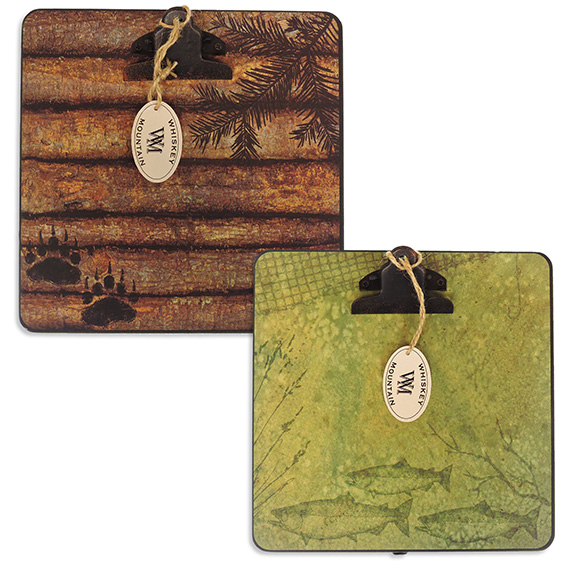 Clipboard Wood Easel Lodge Theme 2 Assorted