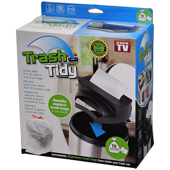 Trash Tidy Bag Dispenser with 15 Bags As Seen on TV