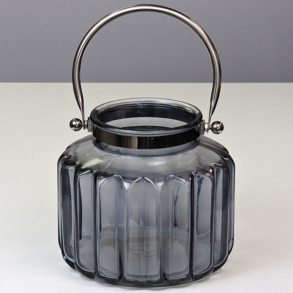 Lantern Smoke LG Metal Handle