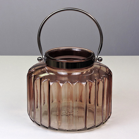 Lantern Brown XL Metal Handle