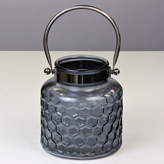 Lantern Smoke MED Checkered Silver Handle