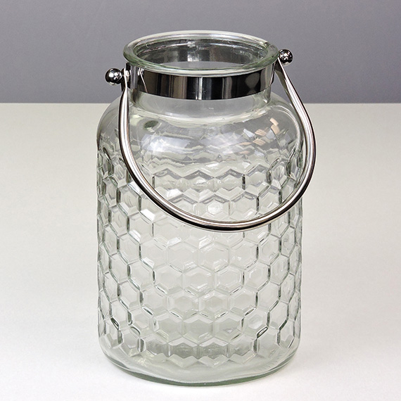 Lantern Clear LG Shaped Silver Handle